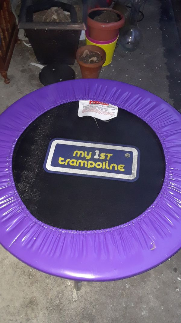 Trampoline ready for spring