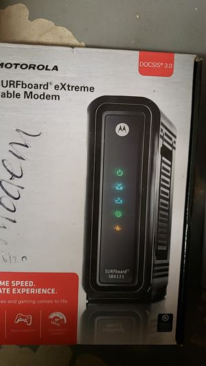 MOTOROLA SURFboard eXtreme SB6121 DOCSIS 3.0 Cable Modem for Sale in Oklahoma City, OK