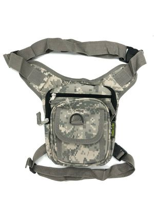Brand NEW! Grey Digital Waist/Hip/Thigh/Leg Holster Style/Leg Bag/Pouch For Everyday Use/Outdoors/Hunting/Traveling/Fishing/Camping/Outdoors/Biking for Sale in Carson, CA