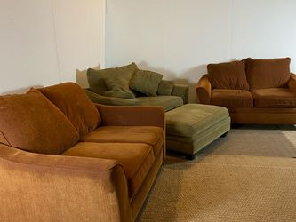 Burnt Orange Couch Loveseat Chair Sofa Set *Free Delivery* for Sale in Cherry Hill,  NJ