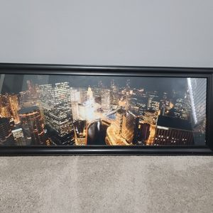 39x15 Framed Chicago Photo for Sale in Carol Stream, IL
