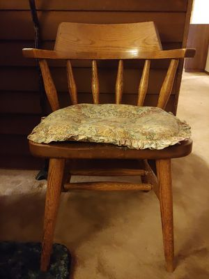 Wooden Chair with a Seat Cushion for Sale in Beaverton, OR