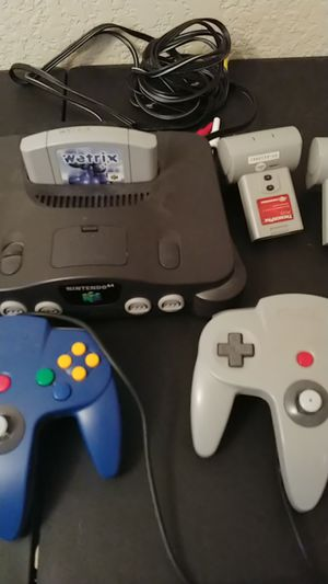 Nintendo n64 with expansion and controllers for Sale for sale  Euless, TX