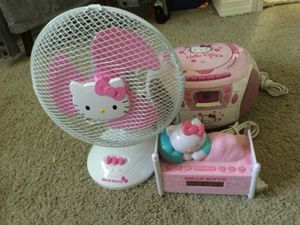 Hello Kitty CD player/fan/clock for Sale in Beaverton, OR