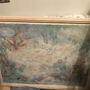 Beautiful Framed Map (picture ) Of Virgin Islands for Sale in Clearwater, FL