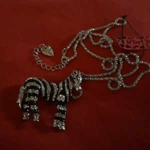 Women's Fashion Zebra Necklace by Betsey Johnson for Sale in Oklahoma City, OK