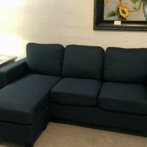 Blue Fabric Sofa Chaise for Sale in Milwaukie, OR