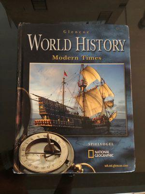 Glencoe World History Modern Times Hard Cover book for Sale in La Mirada, CA
