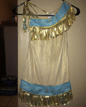 Disney Store Pocahontas Costume Dress 5/6T for Sale in Riverside, CA