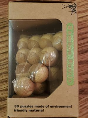 "ECO GAME brand Bamboo Puzzle - "" Cannonball Pyramid brain teaser "" - never opened in box for Sale in Vancouver, WA"