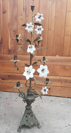 Antique brass/glass candelabra for Sale in Los Angeles,  CA