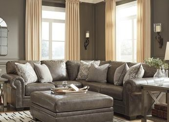 Roleson Quarry Leather RAF Sectional by Ashley for Sale in Washington,  DC