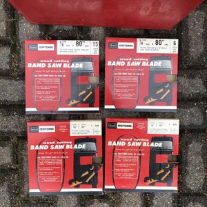 Craftsman Band Saw Blades Assorted for Sale in Kensington, MD