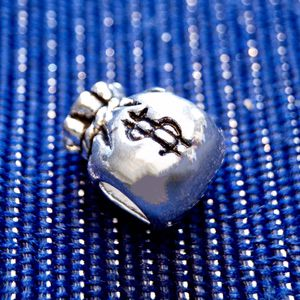 Pure Sterling Silver Money Bag Charm - Fits Pandora for Sale in Las Vegas, NV