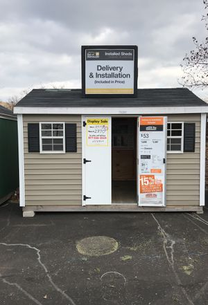Sheds USA 8x12 Vinyl Classic Shed Display now on sale at Home Depot Westbury NY for Sale in Old Westbury, NY