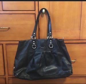 Coach Ashley Black Leather bag for Sale in Waddell, AZ