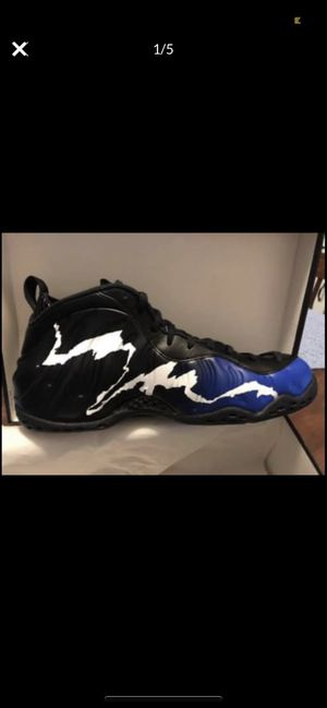 NEW Men's Nike Shoes-Size 12 Nike Air Foamposite One Black Game Royals for Sale in Clarksville, TN