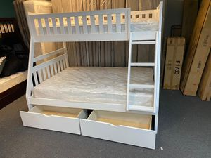 Bunk bed frame with mattress Included brand new for Sale in Houston, TX