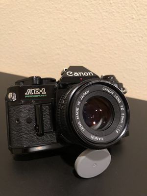 Canon AE-1 Program Black 35mm SLR Vintage Analog Film Camera for Sale in Downey, CA