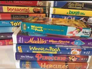 19 Walt Disney VHS Masterpiece Gold Collection Black Diamond Classic Princess for Sale in Longwood, FL