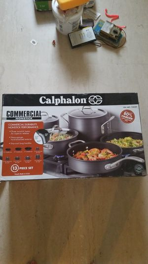 Calphalon commercial nonstick 13 piece cookware set for Sale in Fort Lauderdale, FL