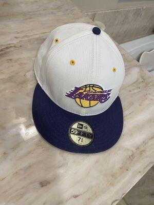 New Era Throwback Lakers Cap 7 3/8 for Sale in Rancho Cucamonga, CA