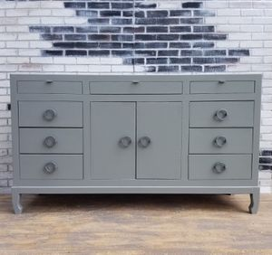 French provincial/Credenza. Dresser, 10 drawers. Stone gray for Sale in Westchester, CA