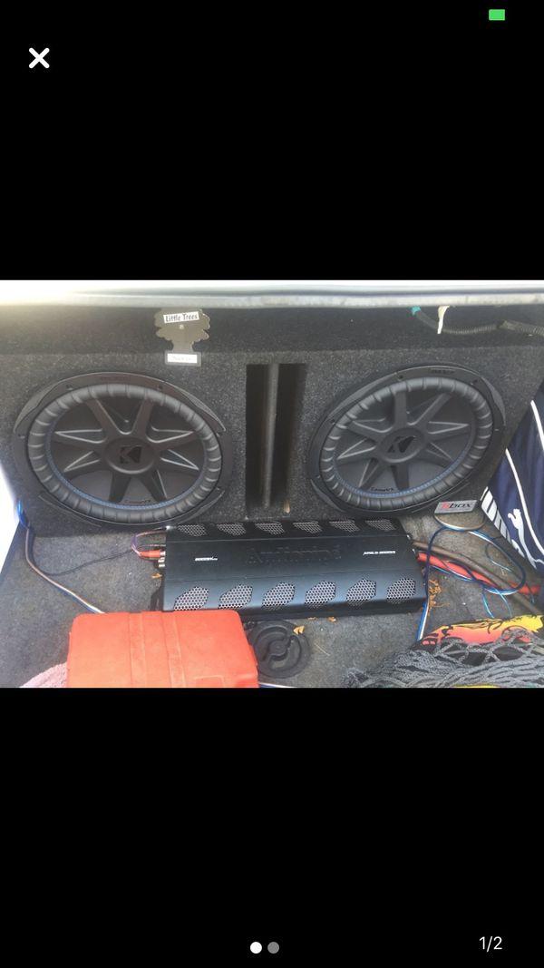 2 CVX 12s 2000 WATT AUDIOPIPE MONO D AMP