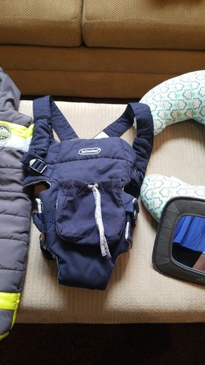 Infant coat, carrier, pillow and mirror for Sale in Greensboro, NC