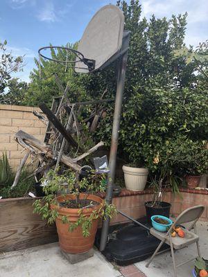 Outdoor basketball hoop,needs net and good to go for Sale in Garden Grove, CA