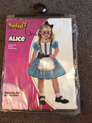 Alice kids Halloween costume size 2T includes Dress and headband for Sale in Broomall, PA