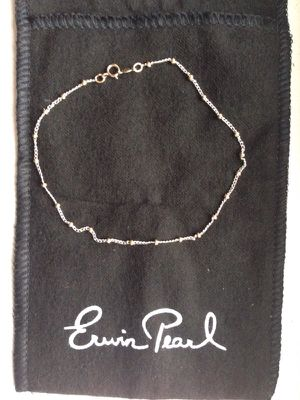 Erwin Pearl 14kt gold and Sterling Silver Anklet for Sale in Fairfax, VA