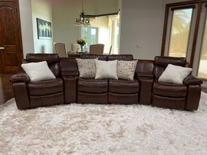 Large Leather Couch for Sale in Odessa, FL