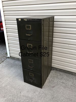 Army green file Cabinet for Sale in Newark, OH