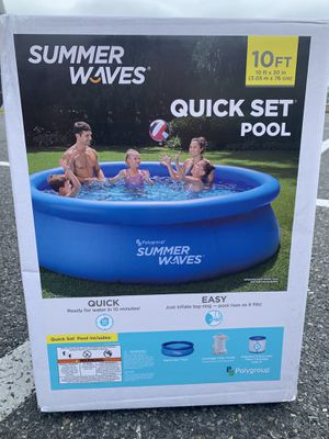 "Summer Waves 10'x30""Quick Set Inflatable Ring Above Ground Pool w/ Filter Pump for Sale in Annapolis, MD"