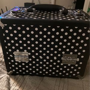 Large Polka Dot Makeup Carrying Case Or Holder for Sale in Phoenix, AZ