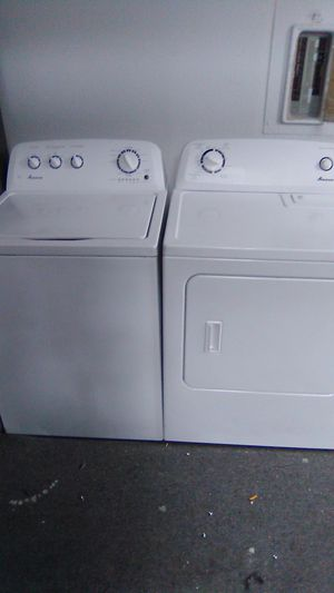 Amana high-efficiency King capacity matching washer and dryer for Sale in Vancouver, WA