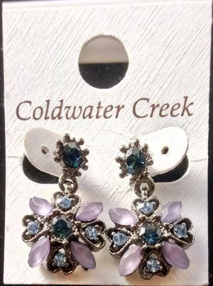 Coldwater Creek blue/purple crystal earrings for Sale in Fort Worth, TX