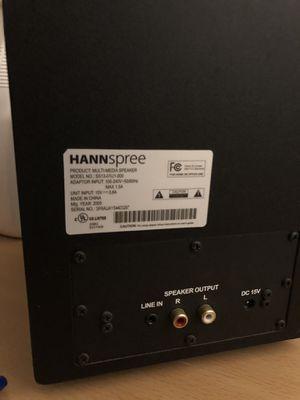 HANNspree Armor 2.1 Channel 3-Piece Subwoofer & Satellite Speaker System, SS13-21U1-001 for Sale in Culver City, CA