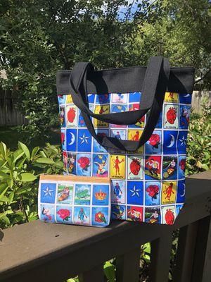 Large Loteria Tote Bag + Matching Makeup Bag for Sale in San Antonio, TX