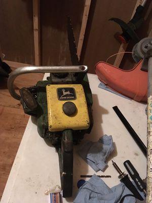 Vintage John-Deere chainsaw for Sale in Halstead, KS