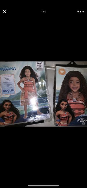 Toddler 3/4 Moana Costume + Wig for Sale in Ontario, CA