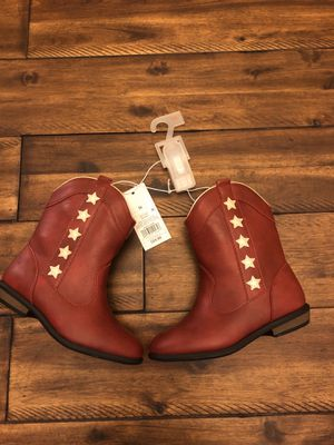 NWT Toddler girl red cowboy boots size 10 retail $25 for Sale in Wellington, FL