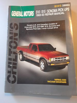 Chilton's automotive repair manuel for 1982-93 Chevy S10/S15/Sonoma pickups for Sale in Petaluma, CA