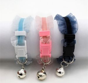 Luxxpup Frilly Pink Dog Puppy Cat Collar Quick Release Bell Girly Lace for Sale in Portland, OR
