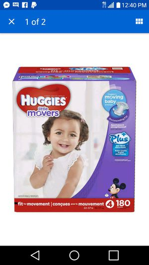 Huggies size 4 for Sale in Washington, PA