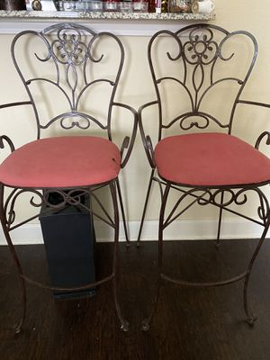 Wrought iron patio bar stools for Sale in McKinney, TX
