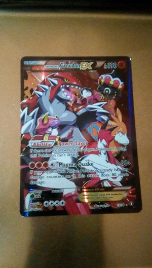 Pokemon collectable, Groudon EX for Sale in Fontana, CA