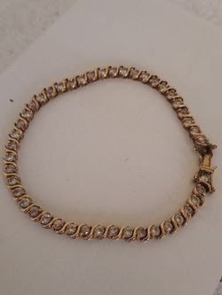 Sterling Silver Vermeil Tennis Bracelet for Sale in Tampa,  FL