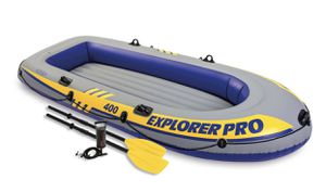 Intex Inflatable Explorer Pro 400 Four-Person Boat with Oars and Pump Brand New for Sale in Dallastown, PA